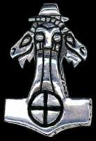 Thor's Face & Goats Heads Sunwheel Hammer